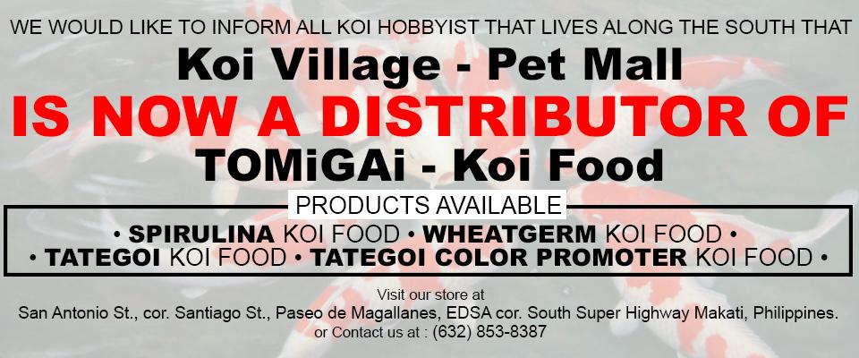 KOI VILLAGE distributor of TOMiGAi